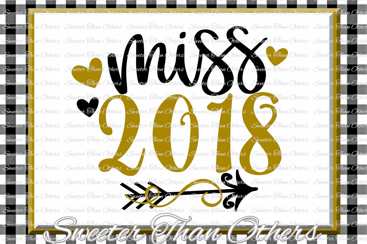 Miss 2018 svg, New Year 2018 SVG example image 1