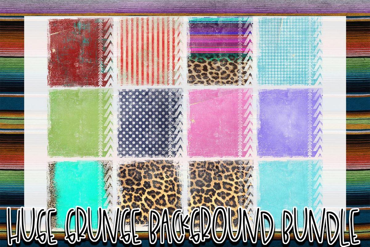 Huge 26 Grunge Background Elements Bundle! example image 1