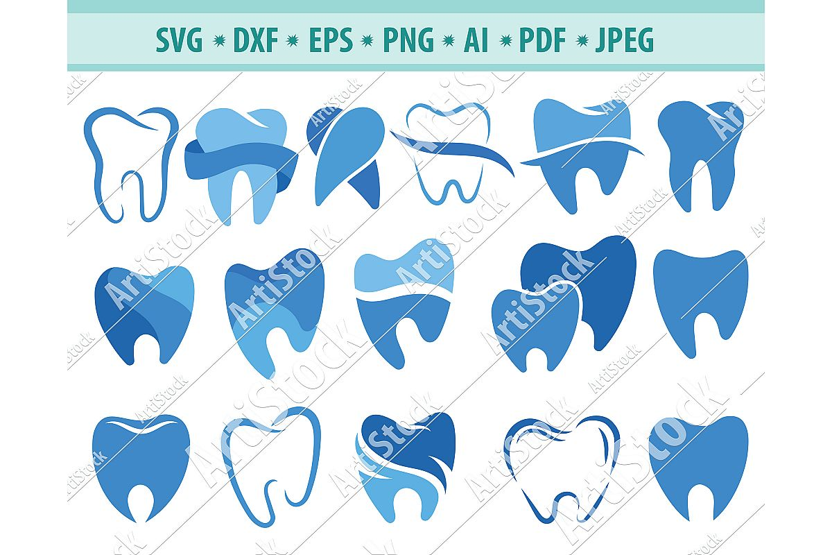 Tooth SVG, Dentist logo svg, Dentist clipart, Png, Dxf, Eps example image 1