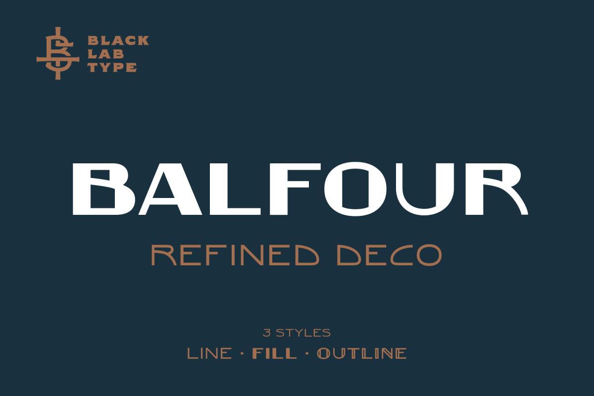 Balfour Art Deco Revival Font example image 1