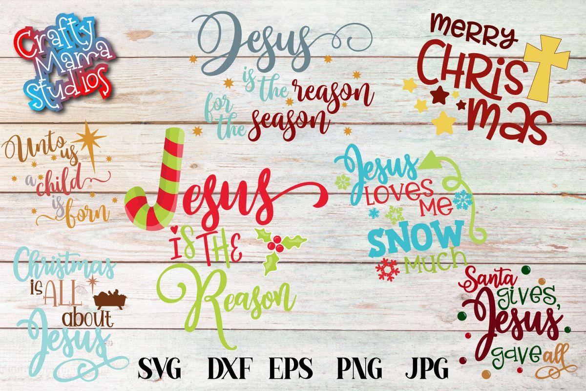 Jesus Christmas Bundle, Christian Christmas Sublimation example image 1