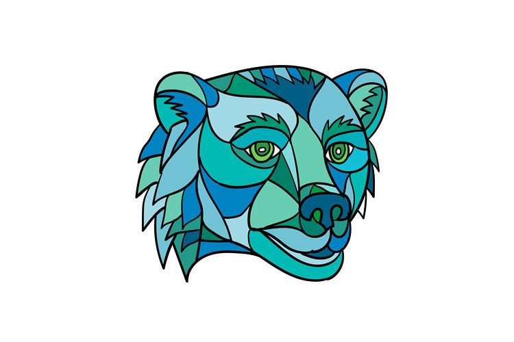 Grizzly Bear Head Mosaic example image 1