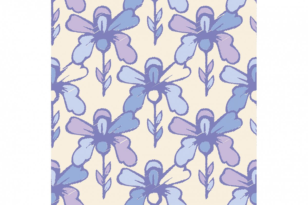 Ethnic boho seamless pattern with decorative flowers.  example image 1