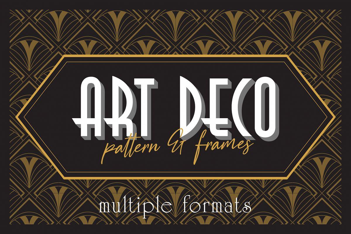 Art Deco Elegant Pattern & Frames example image 1