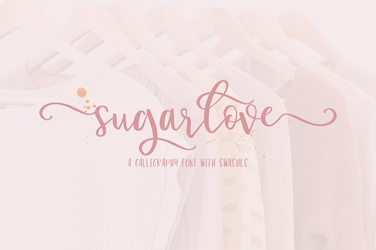 Sugarlove Bounce Calligraphy Font example image 1