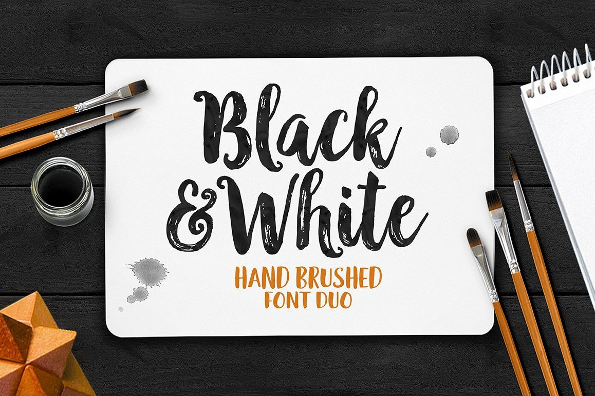 Black & White Font Duo example image 1