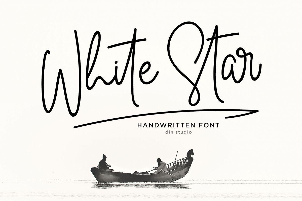 White Star- Chic Handwritten font example image 1