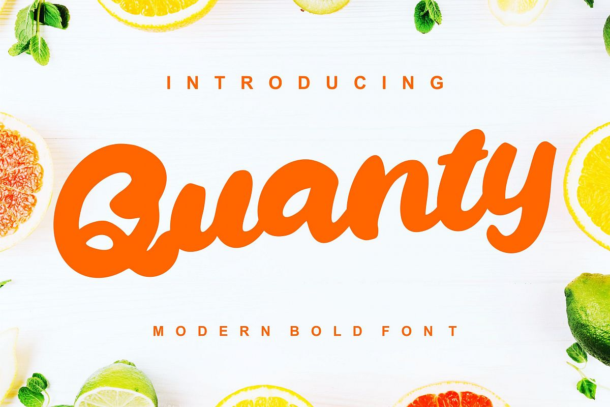 Quanty | Modern Script Bold Font example image 1