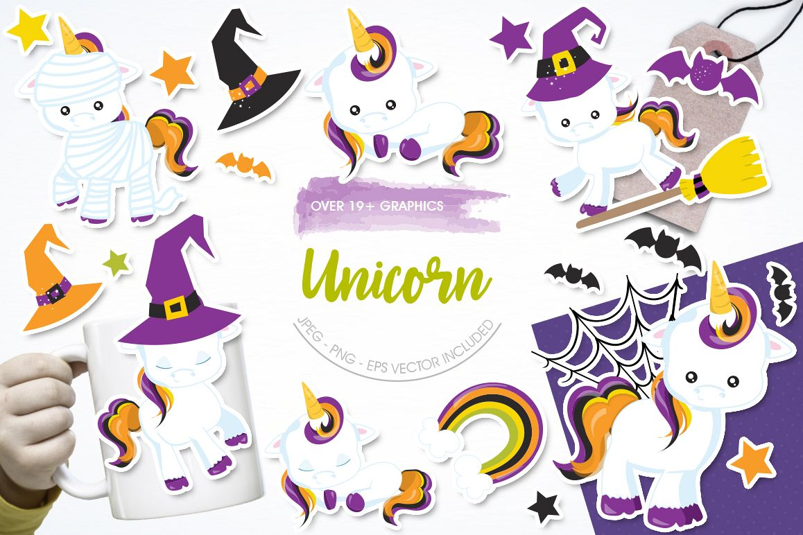 Unicorn graphic and illustrations example image 1