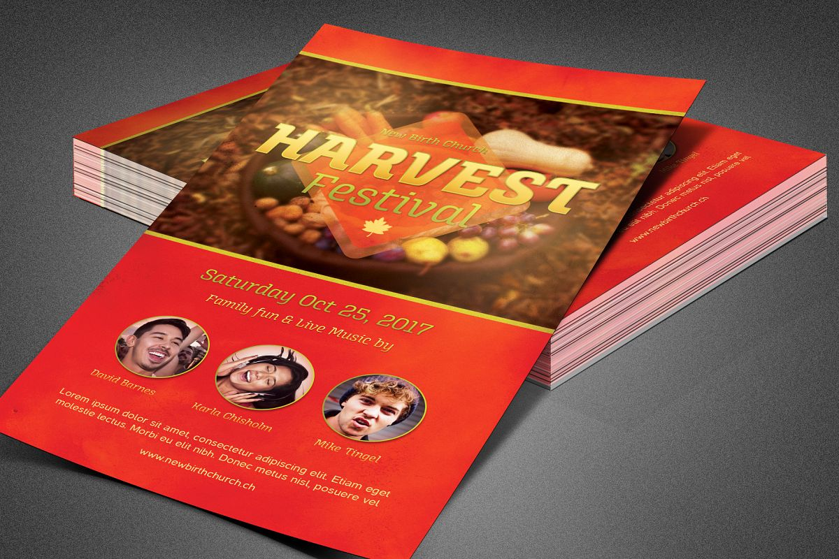 Harvest Festival Church Flyer example image 1