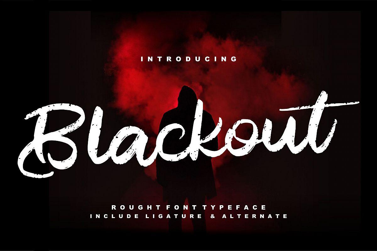 Blackout | Rough Script Font example image 1