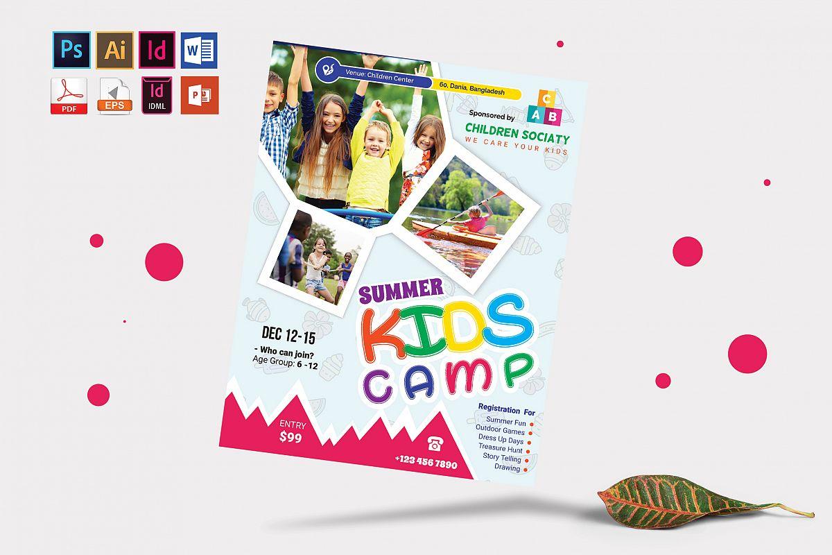 Kids Summer Camp Flyer Vol-05 example image 1