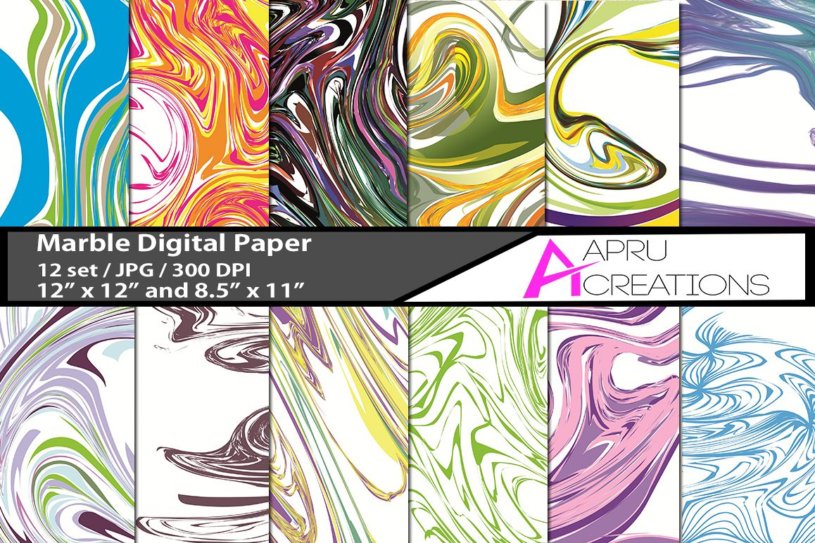 Marble papers, marble pattern, marble backgrounds example image 1