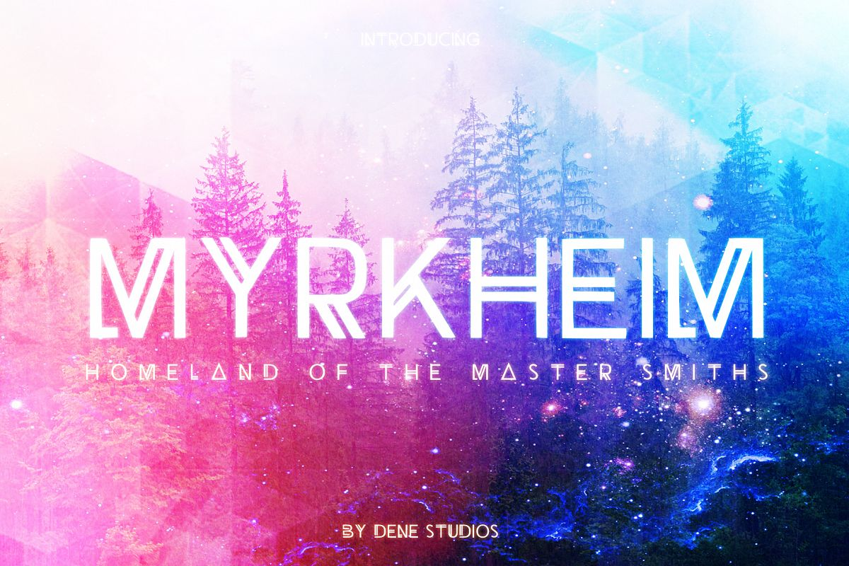 Myrkheim - A Norse Inspired Typeface example image 1