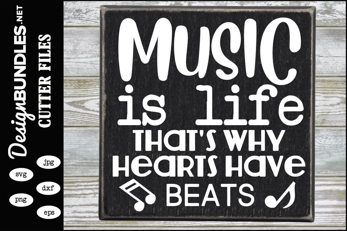 Music Is Life SVG example image 1
