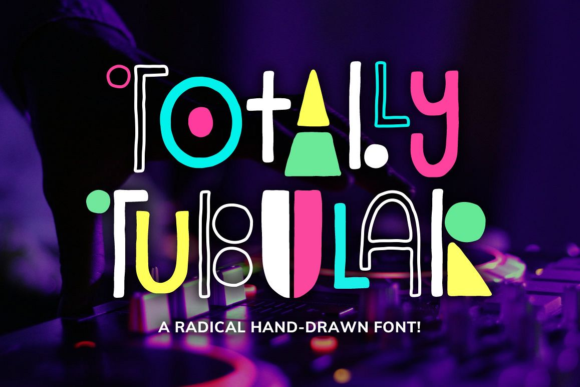 Totally Tubular Font example image 1