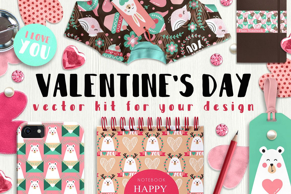 Valentine's day - vector kit example image 1