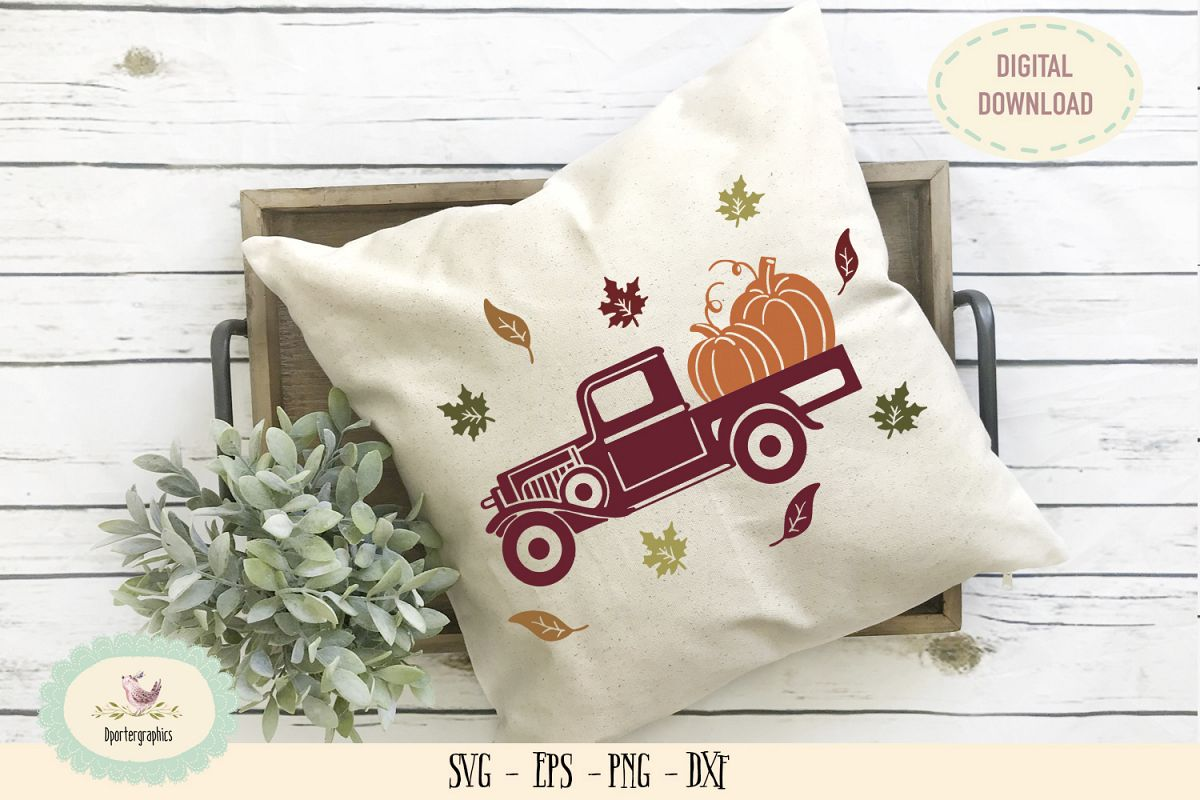 Pumpkin truck SVG PNG halloween decor example image 1