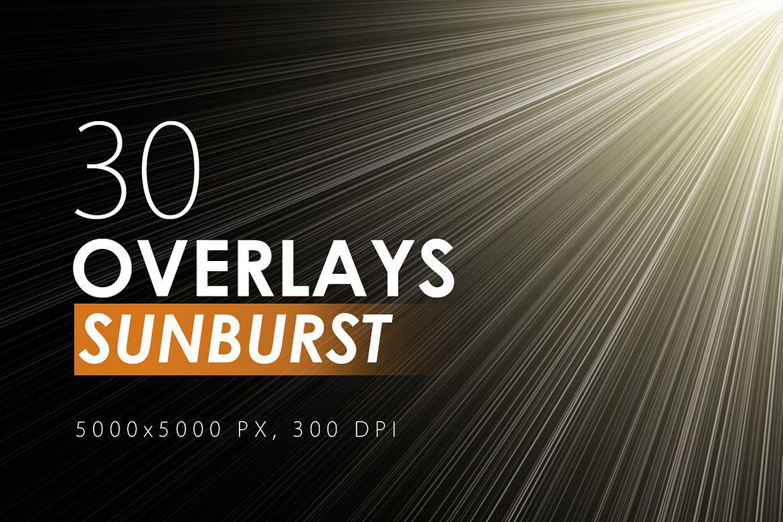 30 Sunburst Overlays example image 1