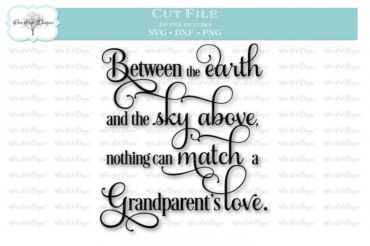 Download Grandparent's Love Quote - SVG DXF PNG (93168) | Cut Files ...