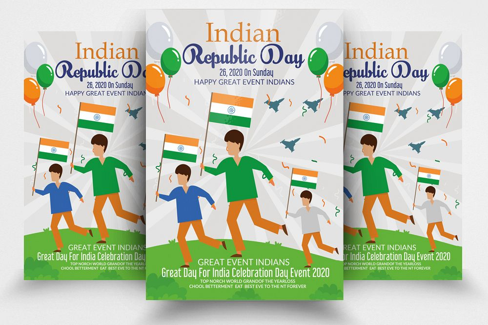 Indian Republic Day Flyer Template example image 1