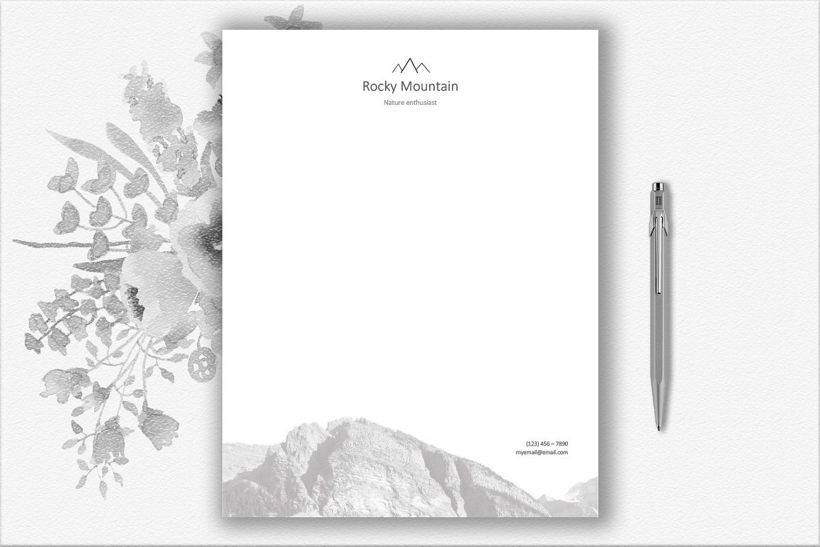 Mountains Letterhead Design Template example image 1