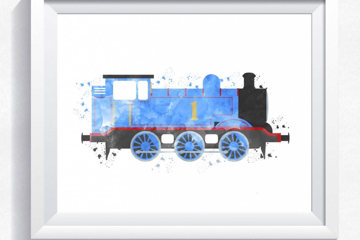 Thomas the train inspired train wall art, Thomas printable, Thomas ...