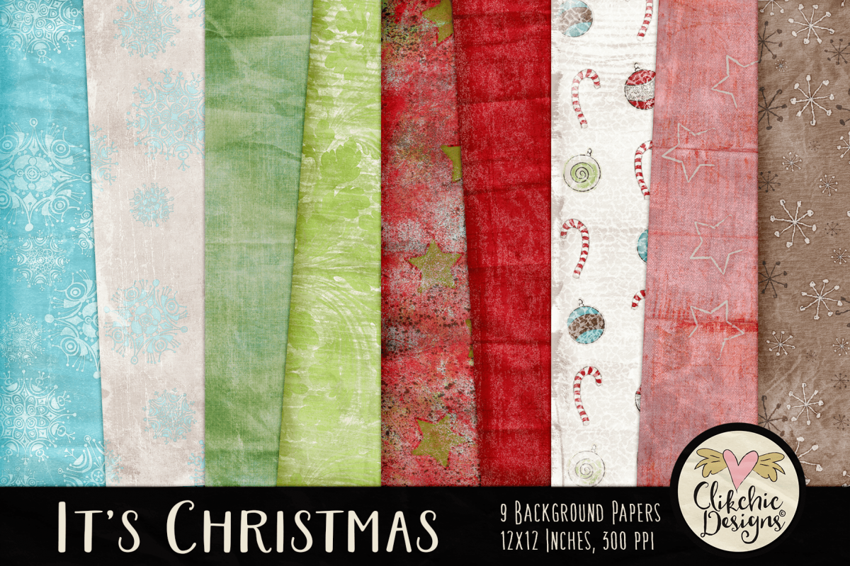 Christmas Backgrounds - Christmas Digital Papers Textures example image 1