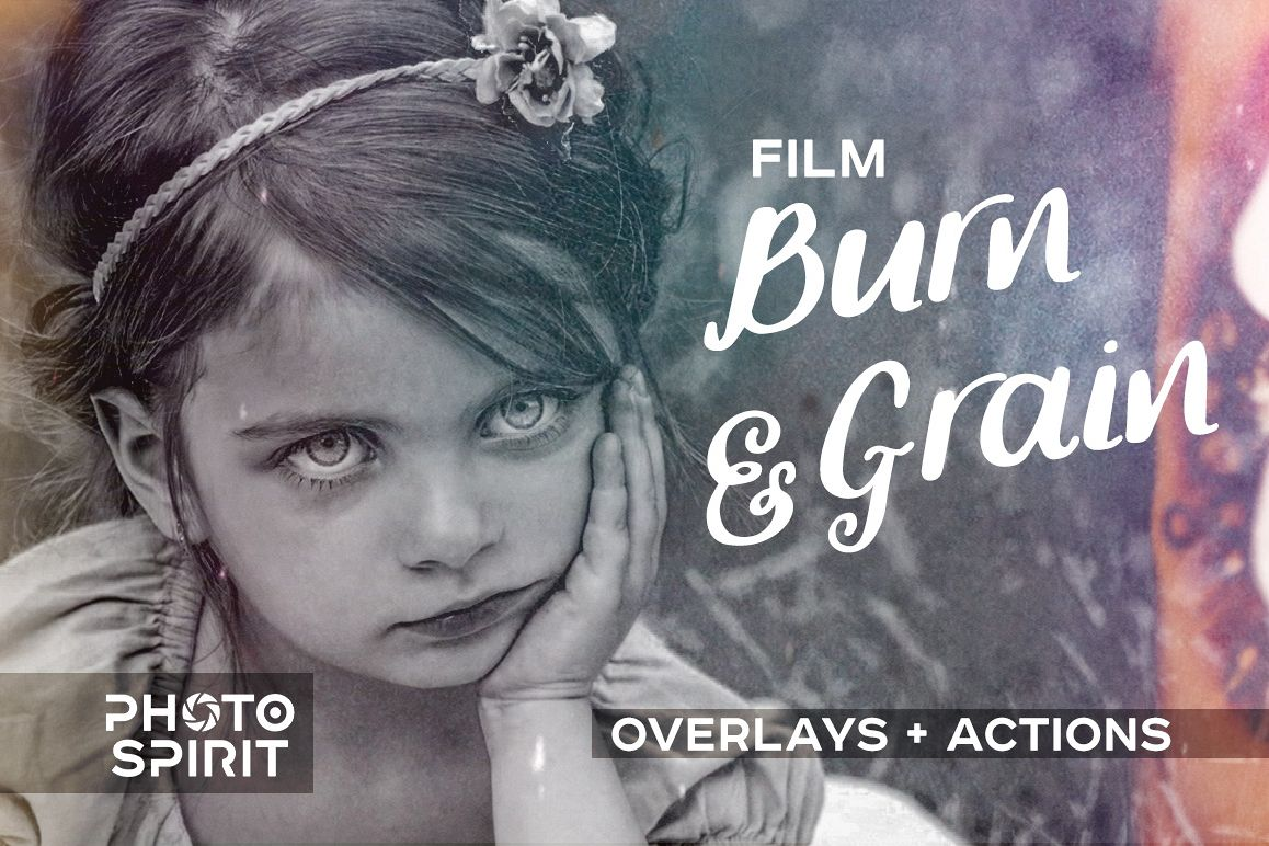 Film Burn & Grain Overlay Effect example image 1