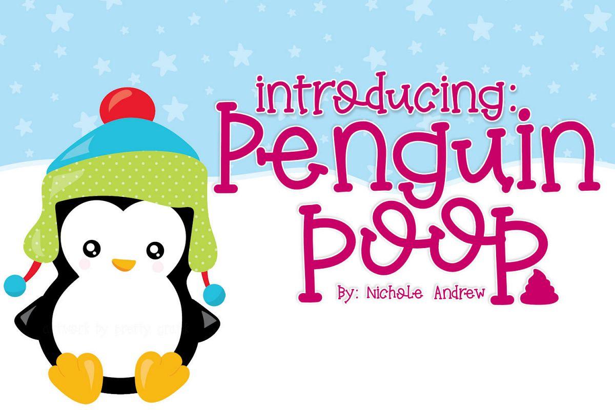 Penguin Poop, A fun Handwritten font example image 1