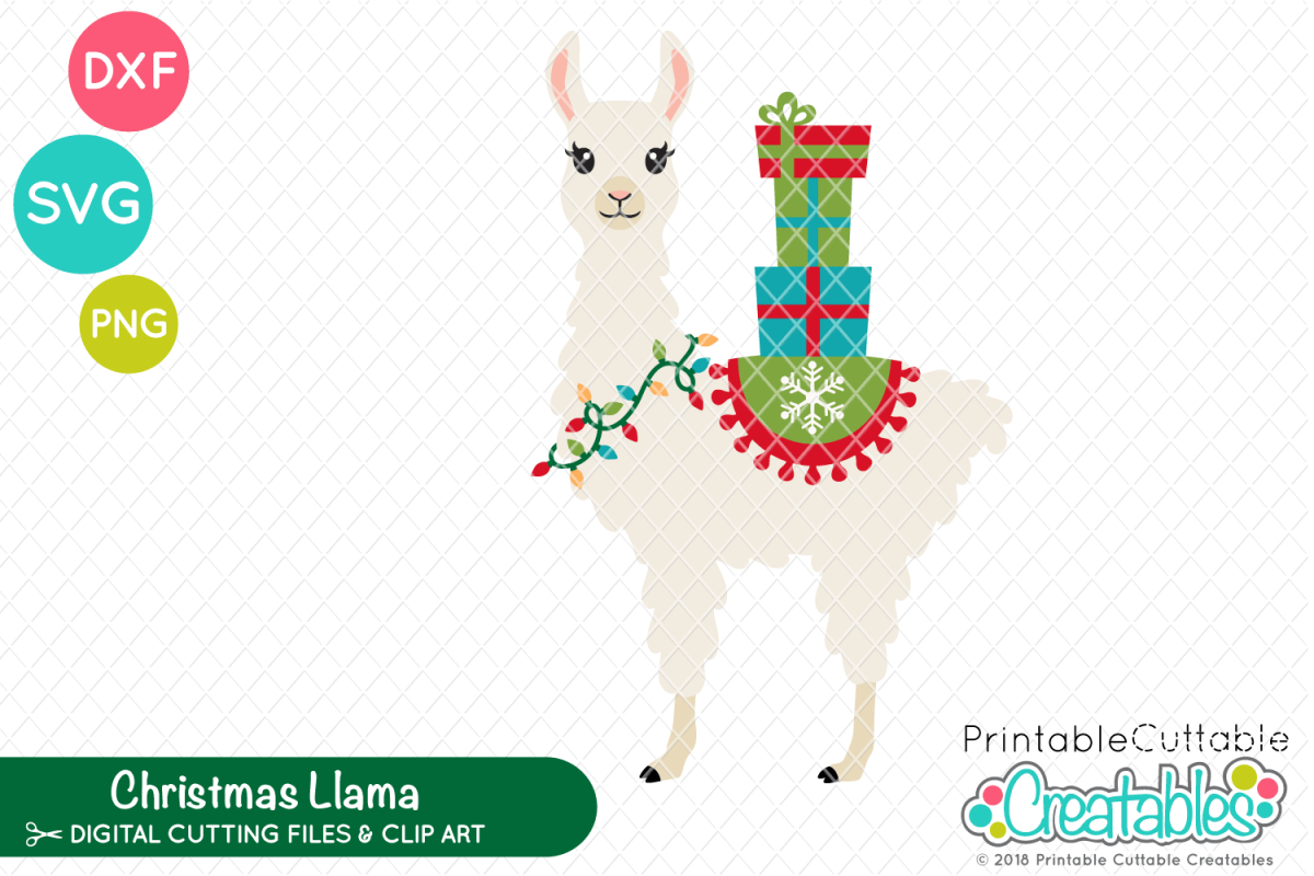 photo about Printable Cuttable Creatables identified as Xmas Llama