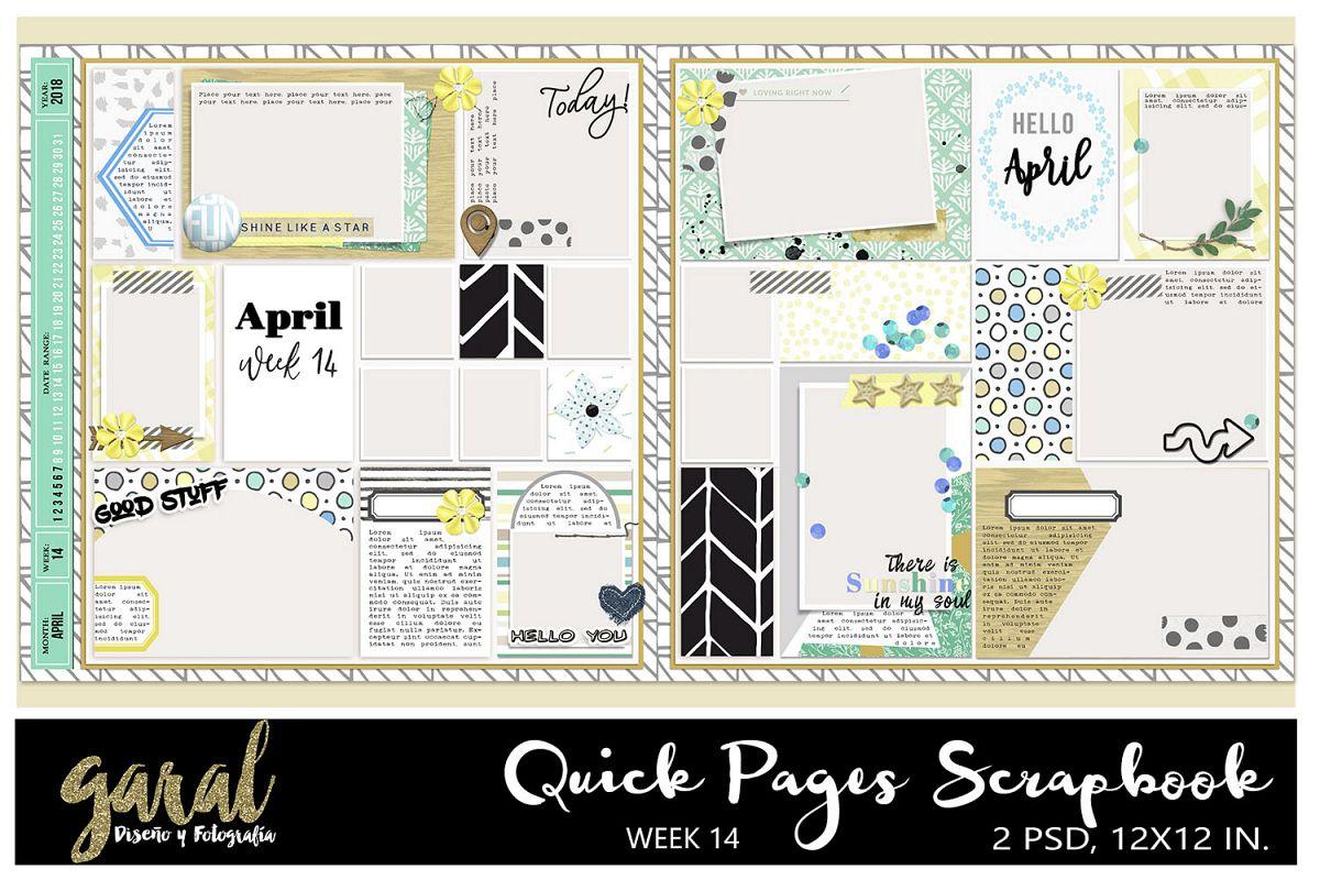 Quick Pages Scrapbook Week14 Project Life Pocket Scrapbook