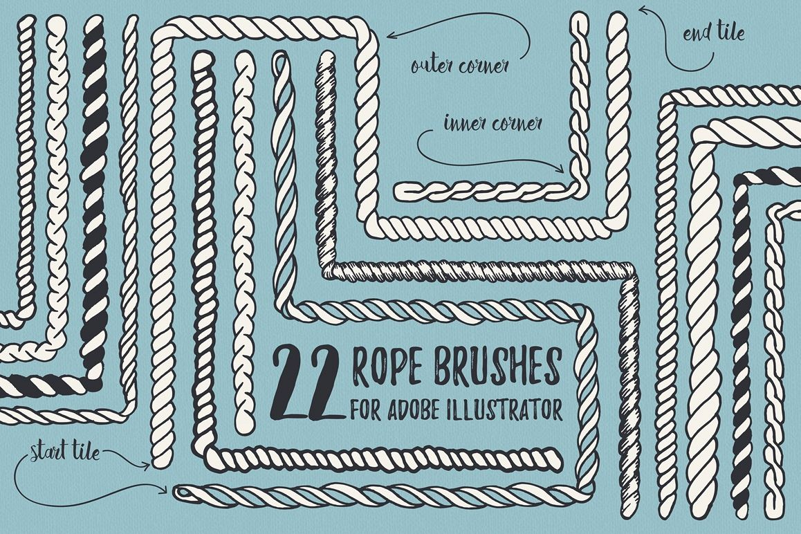 22 Vector Rope Brushes example image 1