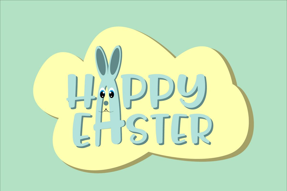 Happy Easter ,Easter Bunny Svg, Easter Svg example image 1