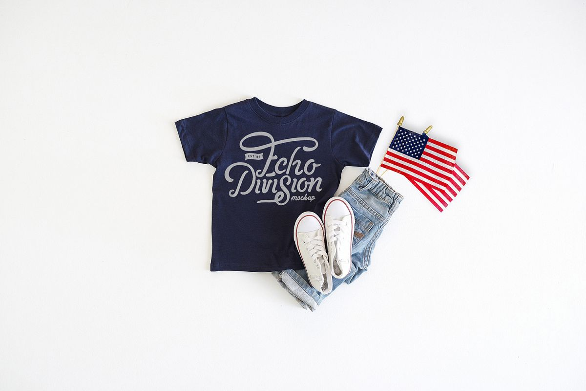 4th of July Mockup- Toddler Jersey Tee - 3321- Navy example image 1