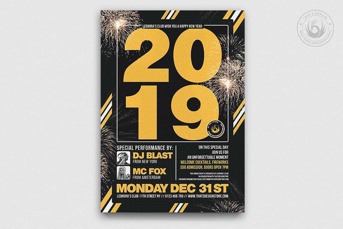 New Year Brochure Template   New Year Flyer Template V6