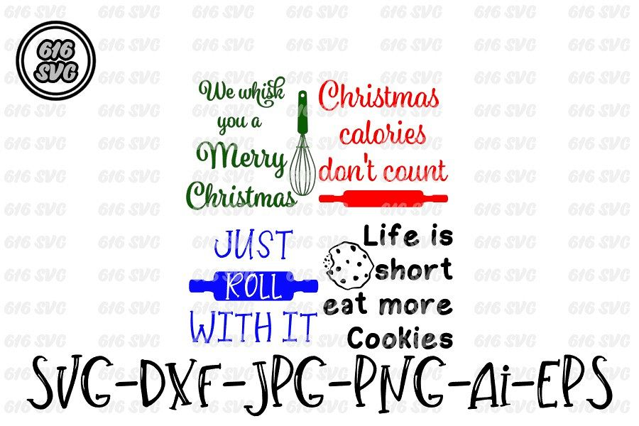 Christmas Potholder 4 Designs Svg Dxf Jpg Png Ai Eps