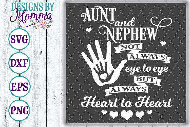 Aunt and Nephew Heart to Heart SVG example image 1