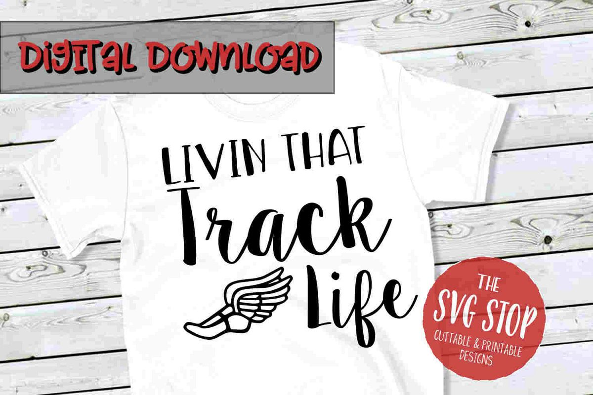 Track Life SVG PNG DXF example image 1