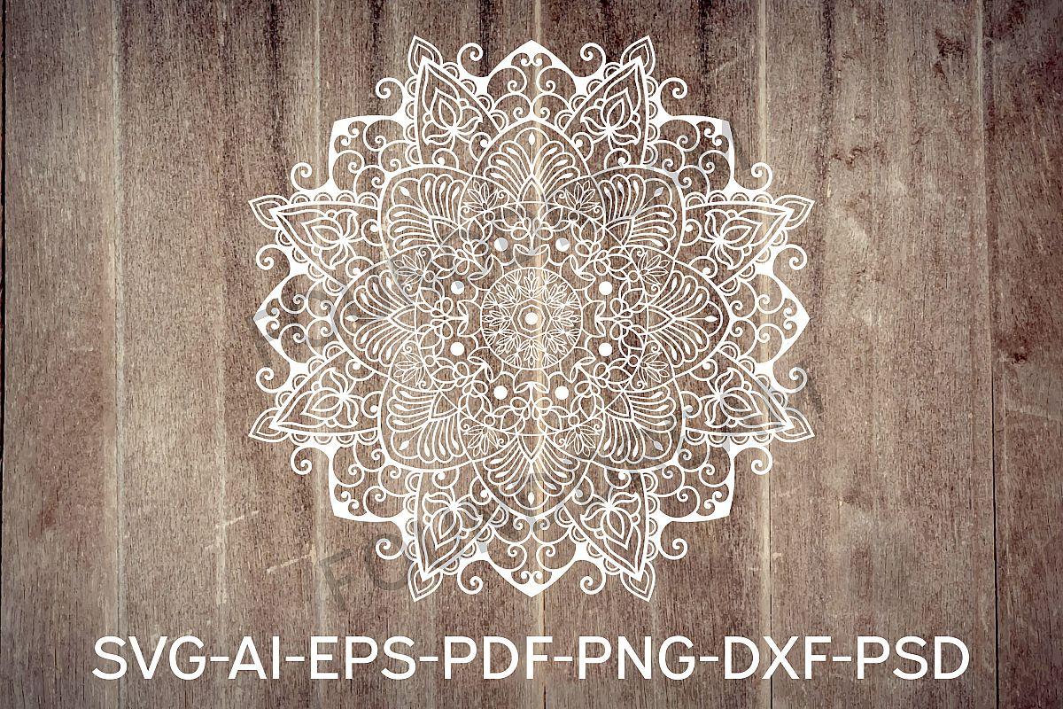 Mandala svg files | Mandala art example image 1