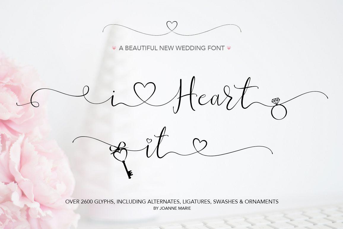 iHeart it wedding font example image 1
