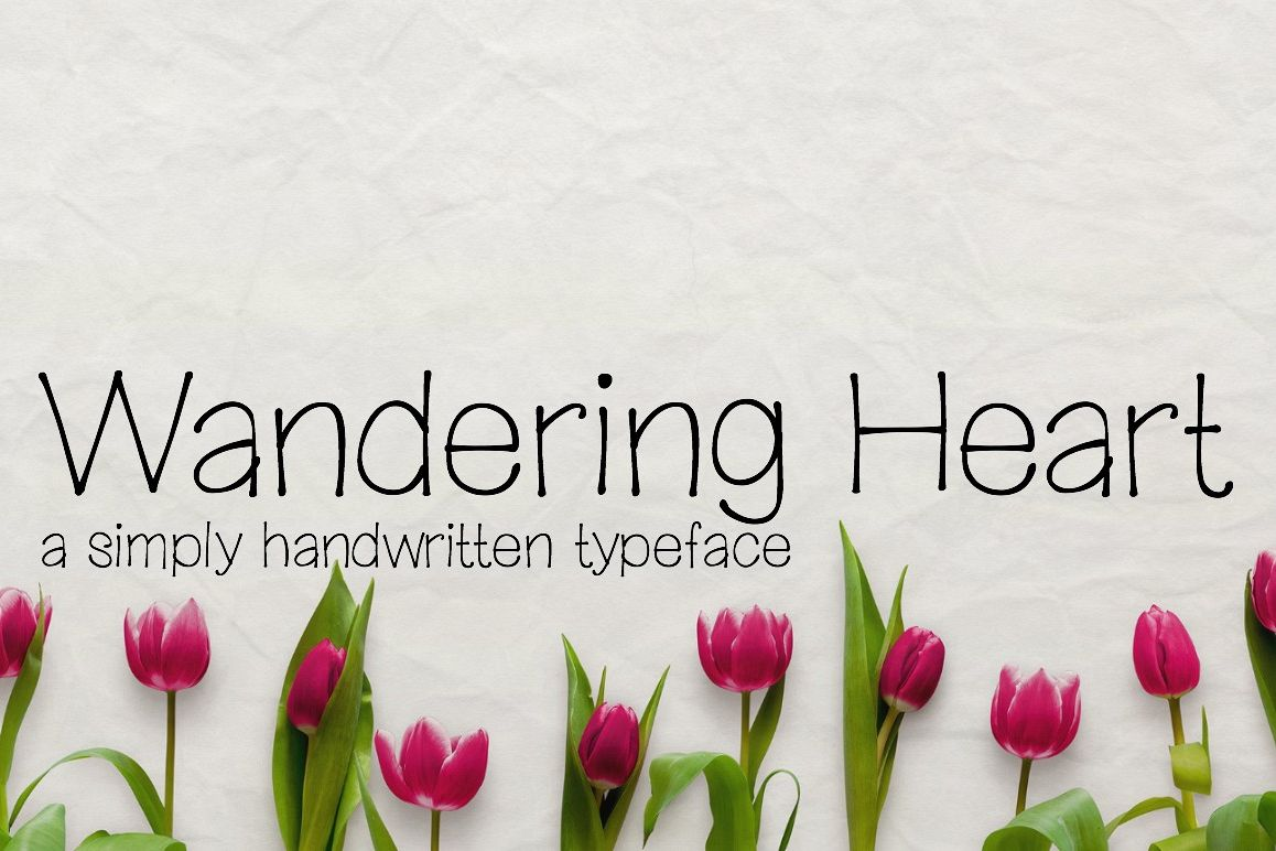 Wandering Heart- Handwritten Font example image 1