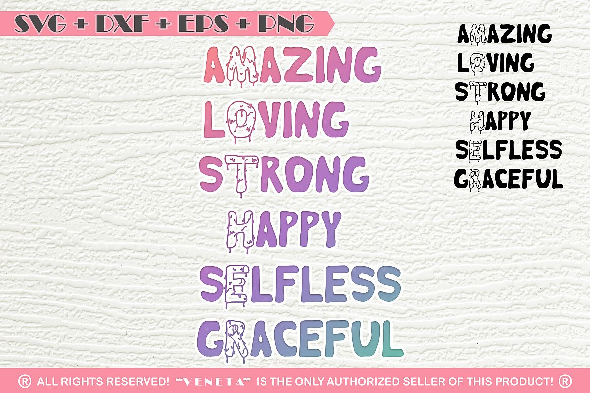 Amazing, strong mother | Quotes| SVG DXF PNG EPS Cutting