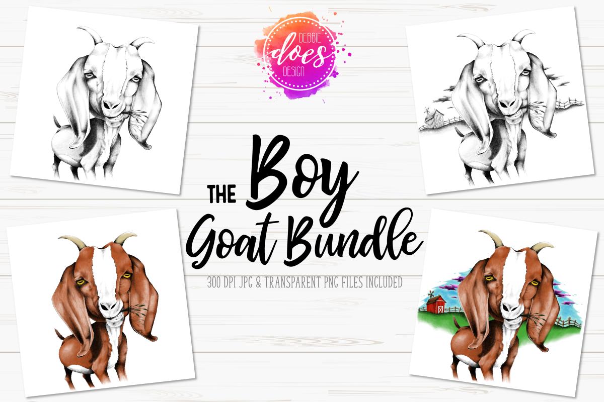 The Boy Hand Drawn Goat Bundle example image 1
