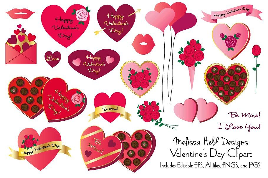 Valentine's Day Clipart example image 1