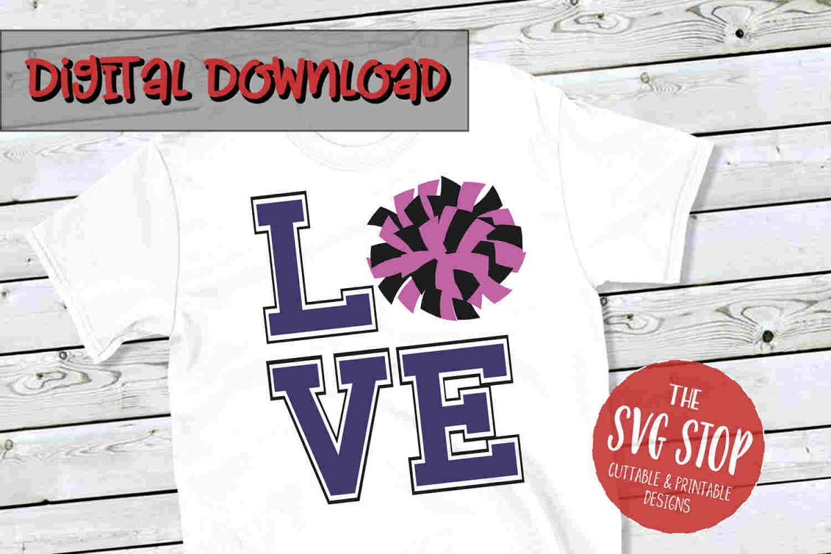 Love Cheer 3-SVG, PNG, DXF example image 1