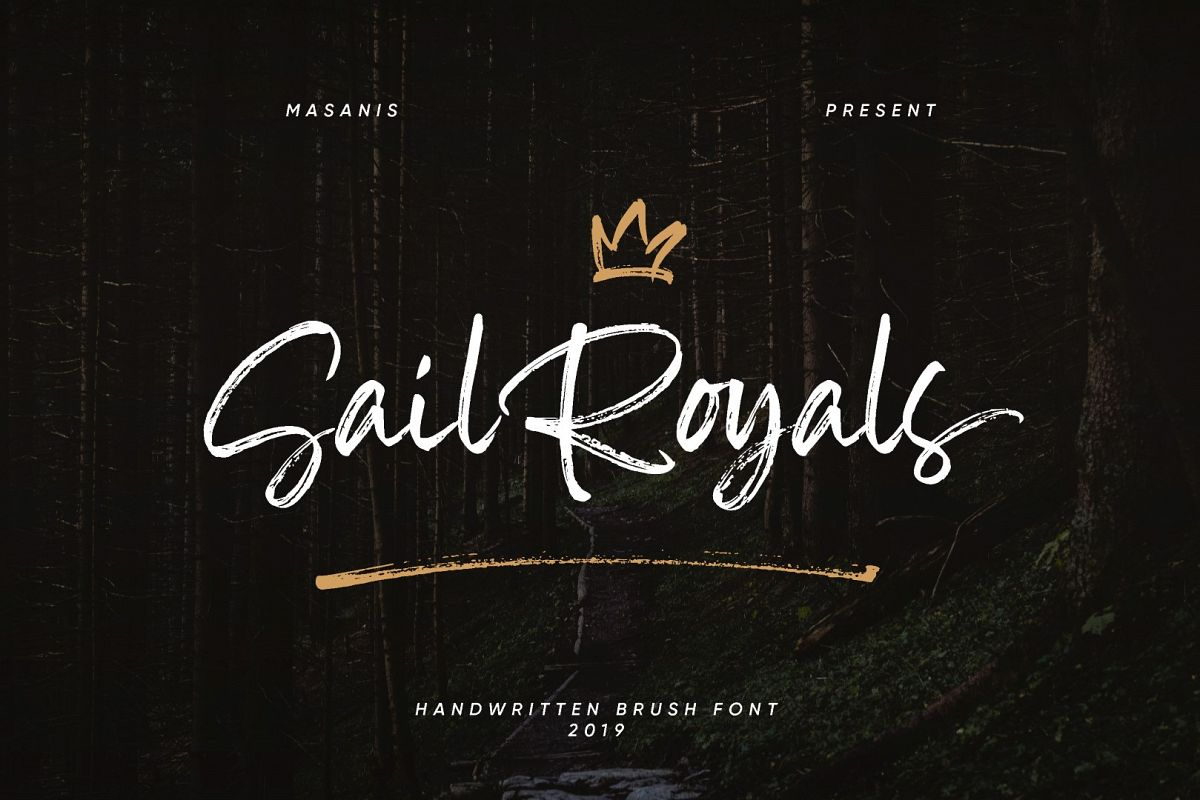 Sail Royals // Brush Script example image 1