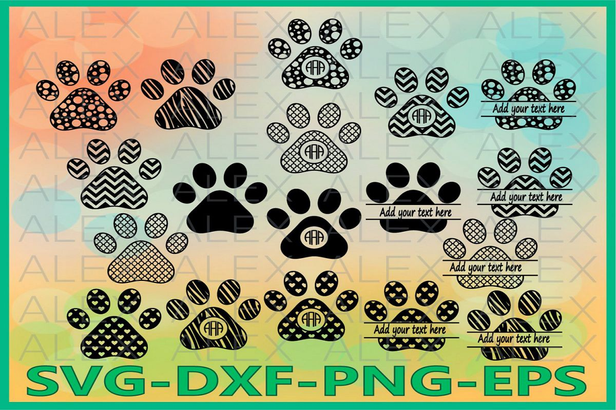 Paws Svg, Dog Svg, Cricut Cut Files, Dog Paws Svg Files example image 1
