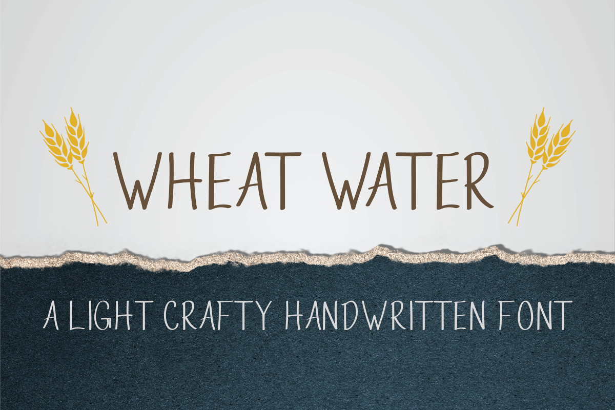 Wheat Water - A Crafty Thin Handwritten Font example image 1