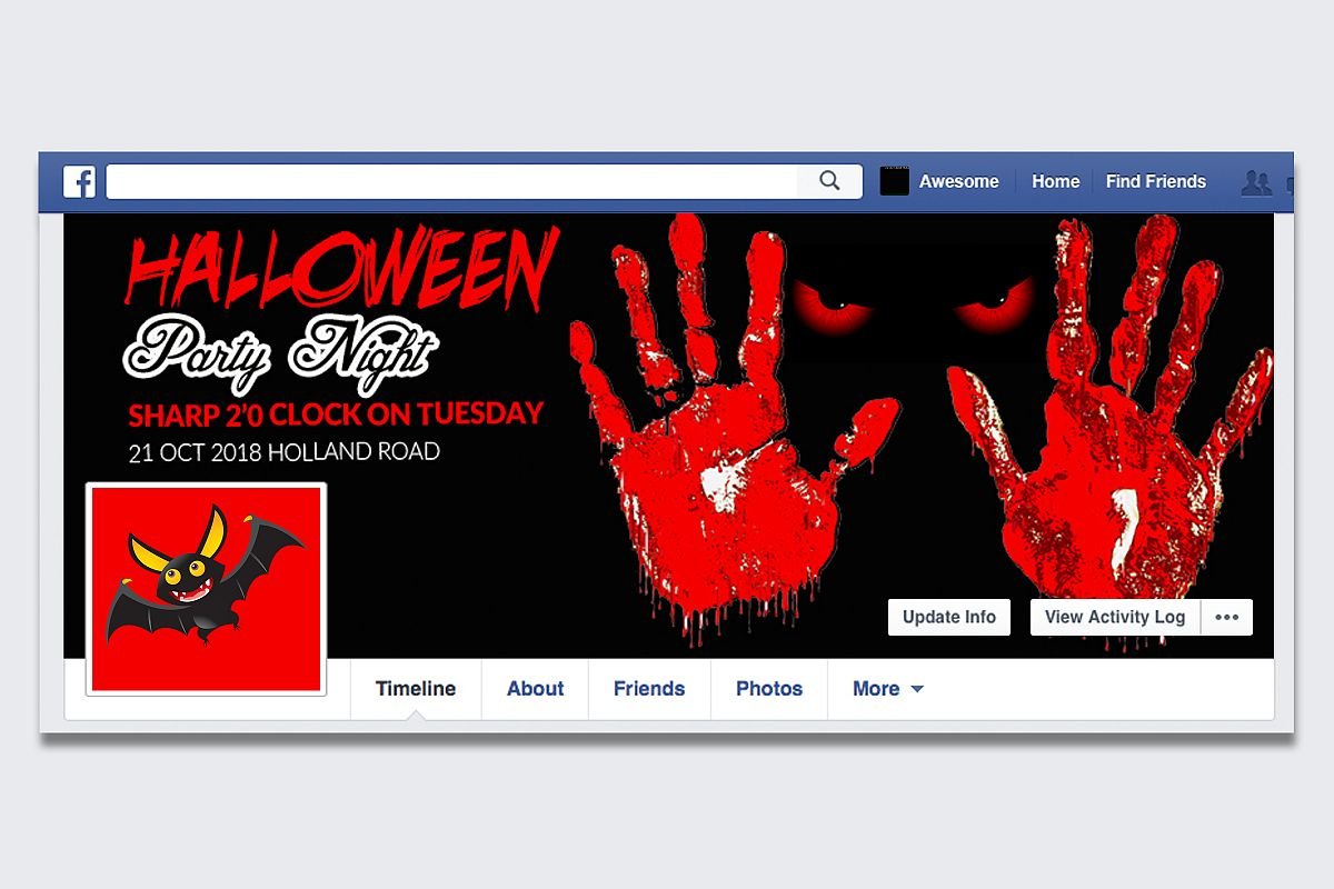 Halloween Party Night Facebook Timeline Cover example image 1
